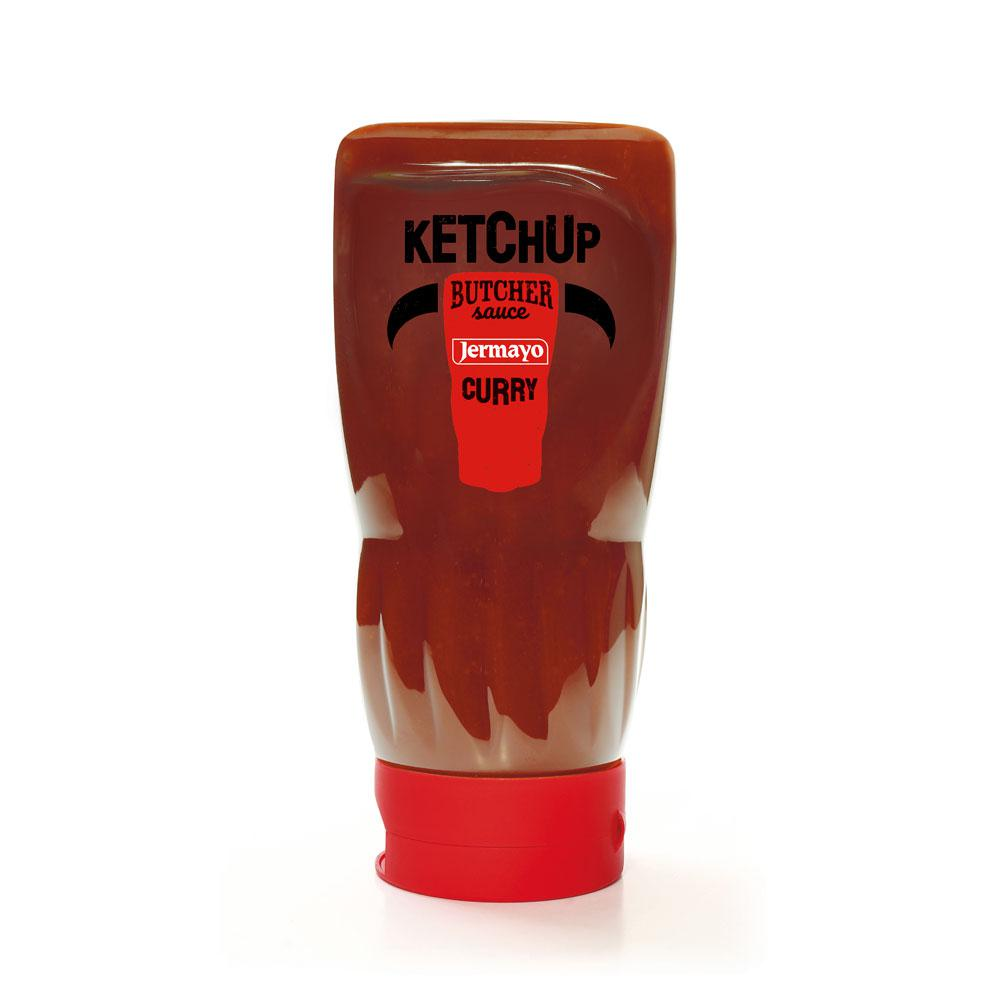 Curry Ketchup - 6 x 400ml Squeezer Butcher - Sauces froides